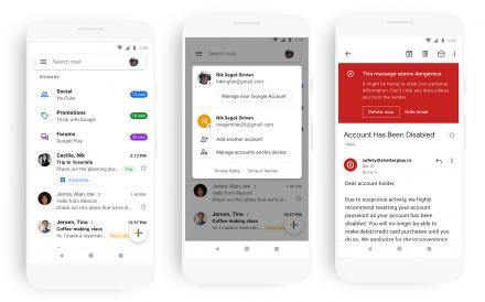 È in arrivo il restyling di Gmail per Android e iOS.