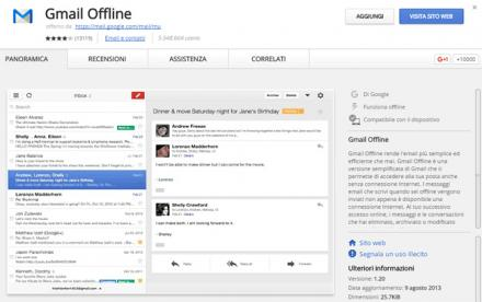 Account Gmail anche offline