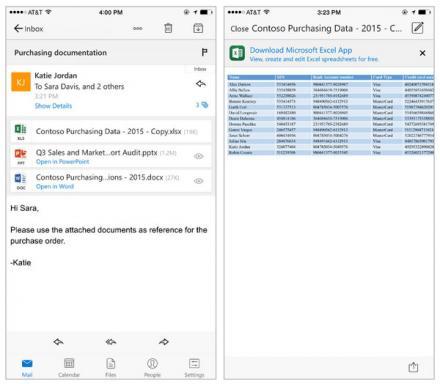 Gestione delle mail più efficiente con l'aggiornamento Outlook per iOS