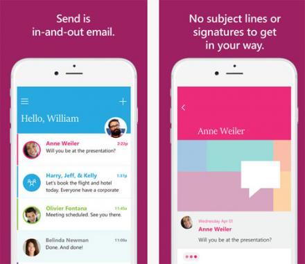 Chattare via email grazie a Microsoft Send per iOS