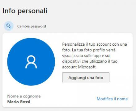 Outlook : Cambiare la foto del profilo
