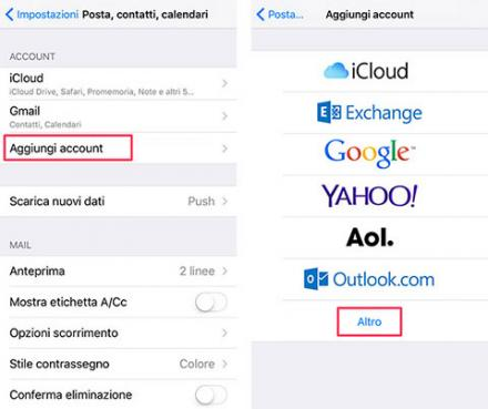 Configurare la PEC su iPhone e iPad
