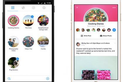 Facebook lancia l'App esclusivamente dedicata ai Gruppi