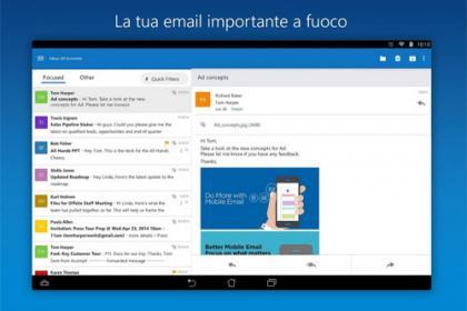 Outlook app aggiornare